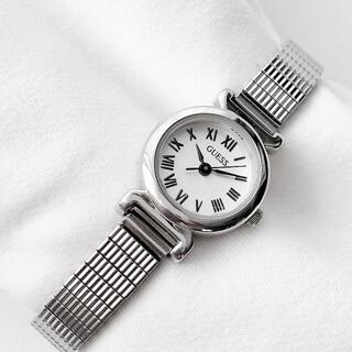 ゲス(GUESS)のGUESS レディースクォーツ腕時計 稼動品 ベルト伸縮性あり(腕時計)