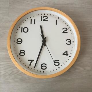 MUJI (無印良品) - 無印良品 アナログ時計・大 掛時計・ブナ材ナチュラル