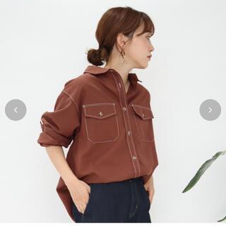 しまむら - terawere emu ハイショクステッチシャツMサイズ