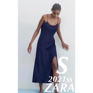 ZARA - ZARA サテン地キャミソールワンピース