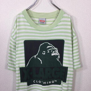 XLARGE - エクストララージ/XLARGE ボーダーTシャツ 半袖 ゴリラ&ロゴプリント