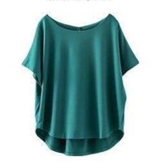 ゆるシャツチュニック グリーン