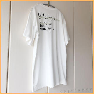 【新品】レディース トップス バックプリントTシャツ 半袖 Lサイズ ホワイト