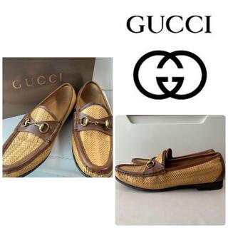 グッチ(Gucci)のGUCCI パナマ ホースビット ローファー(ローファー/革靴)