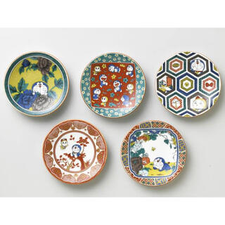 九谷青窯 - 九谷焼 ドラえもん 時代画風 小皿 絵皿 5枚 プレート