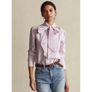 Ralph Lauren - RALPH LAUREN オックスフォードタイネックシャツ リボンシャツ