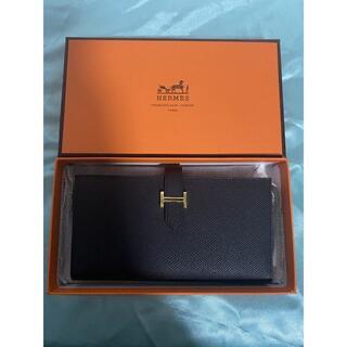 Hermes - エルメス 財布 べアンスフレ 黒 ゴールド金具