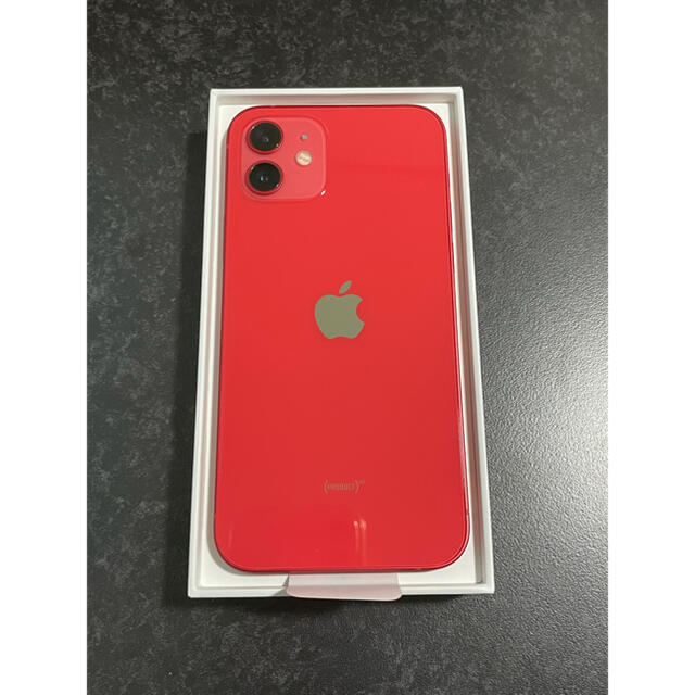Apple(アップル)のiPhone12 64GB SIMフリー RED スマホ/家電/カメラのスマートフォン/携帯電話(スマートフォン本体)の商品写真