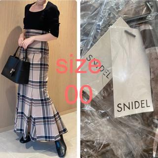 snidel - 新品✨ハイウエストタイトヘムフレアチェックスカート
