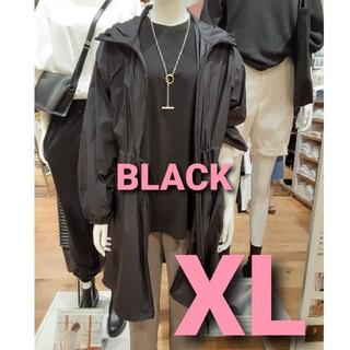 ユニクロ(UNIQLO)のユニクロ ポケッタブルコート ブラック XL(その他)
