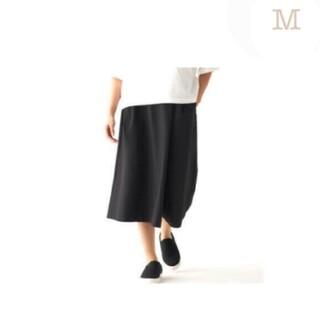 MUJI (無印良品) - ◆新品◆ 無印良品ストレッチサッカーワイドパンツ/黒/M