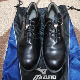ミズノ(MIZUNO)のミズノMPハイグレード本革ゴルフシューズ黒(シューズ)