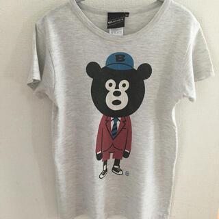 ビームス(BEAMS)のビームス Tシャツ くま ベア グレー(Tシャツ(半袖/袖なし))