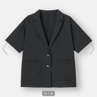 GU - GU ライトオーバーサイズシャツジャケット(5分袖)