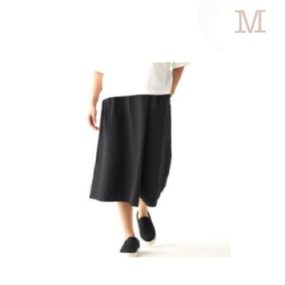 MUJI (無印良品) - 【新品】 無印良品ストレッチサッカーワイドパンツ/黒/M