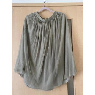 ユニクロ(UNIQLO)のシフォンスカート(ひざ丈スカート)