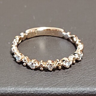 ポンテヴェキオ(PonteVecchio)の美品❣️K18PG ポンテヴェキオ ダイヤリング 0.10カラット(リング(指輪))