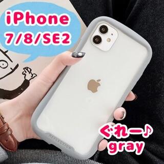 iPhone ケース シンプル 保護 グレー 安い クリア 透明 iFace風♪
