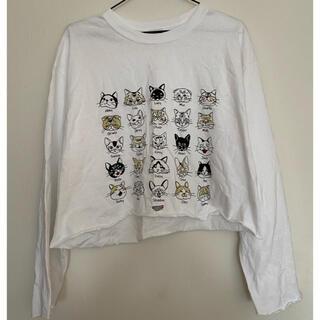 ビームス(BEAMS)の猫 Tシャツ(Tシャツ(長袖/七分))