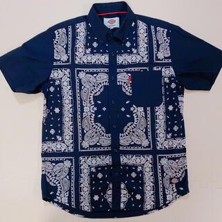 ディッキーズ(Dickies)のディッキーズ 半袖シャツ ネイビー Lサイズ(Tシャツ/カットソー(半袖/袖なし))