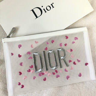 Dior - Dior ディオール ノベルティ ポーチ 刺繍 メッシュ 新品未使用品
