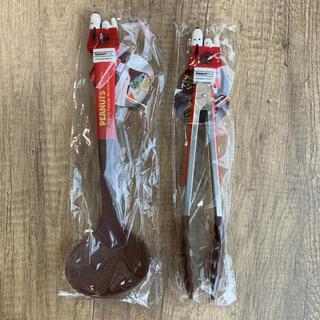 スヌーピー(SNOOPY)のスヌーピー お玉 トング セット 新品 未使用(調理道具/製菓道具)