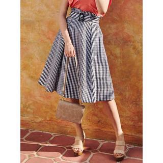 MERCURYDUO - MERCURYDUO ベルト付きスカート チェック 美品
