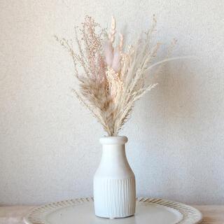 穂と小花のミニブーケ スワッグ beige pink(ドライフラワー)