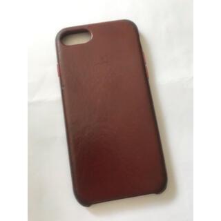 Apple - iPhone 7 8 SE(2代目) 純正レザーケース