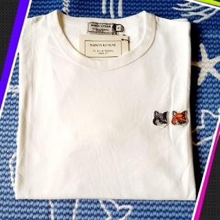 【M】MAISON KITSUNEメゾンキツネダブルフォックスヘッド Tシャツ