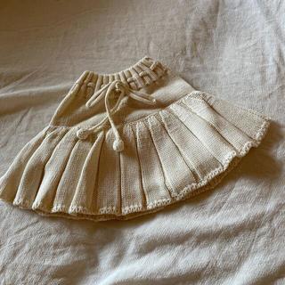 キャラメルベビー&チャイルド(Caramel baby&child )のサマーニット ブルマスカート ホワイト misha&puff が好き 確認用(スカート)