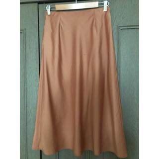 ユニクロ(UNIQLO)のUNIQLO オレンジサテンスカート(ロングスカート)