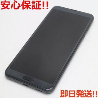 アクオス(AQUOS)の美品 SIMフリー AQUOS sense3 plus ブラック (スマートフォン本体)