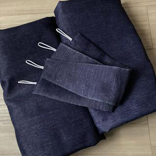ニトリ(ニトリ)のニトリ  ウィーク デニム調 カーテン 2枚組 100×110(カーテン)