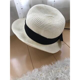 エニィファム(anyFAM)の【美品】any FAM 麦わら帽子 リボン 56cm(帽子)
