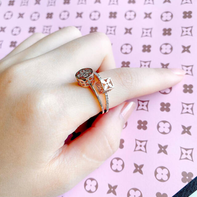 モノグラム 立体 リング レディースのアクセサリー(リング(指輪))の商品写真