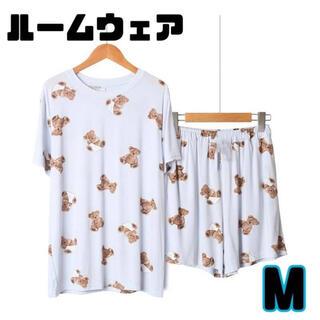 ※数量限定※ ルームウェア くま パジャマ 上下セット 半袖 韓国 Mサイズ