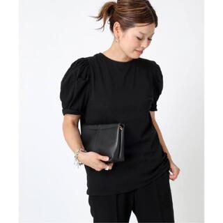 ドゥーズィエムクラス(DEUXIEME CLASSE)の【CELERI/セルリ】PUFF Tシャツ ブラック(Tシャツ(半袖/袖なし))