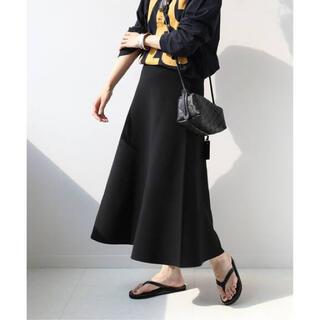フレームワーク(FRAMeWORK)のFRAMeWORK スムースフレアスカート   ブラック36(ロングスカート)