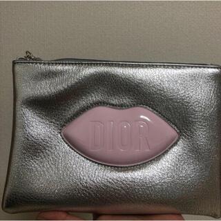 Christian Dior - diorディオール シルバー リップ デザイン ノベルティ レア ポーチ