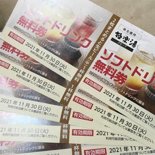極楽湯 RAKU SPA ドリンク チケット(その他)