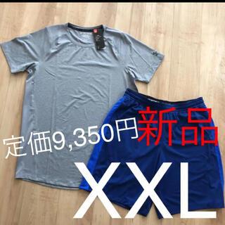 アンダーアーマー(UNDER ARMOUR)の☆新品☆アンダーアーマー メンズヒートギアTシャツハーフパンツセットアップXXL(Tシャツ/カットソー(半袖/袖なし))