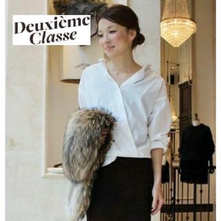 ドゥーズィエムクラス(DEUXIEME CLASSE)の人気【Deuxieme Classe】ブロードカシュクールシャツ ホワイト(シャツ/ブラウス(長袖/七分))