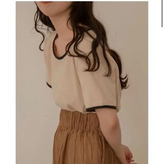 カスタネ(Kastane)のlawgy bicolor linen tops(Tシャツ(半袖/袖なし))