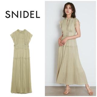 snidel - SNIDEL プリーツロングワンピース GRN グリーン ミント