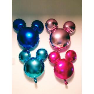 お誕生日やイベントに大活躍☆ミッキー型バルーン4色セット☆