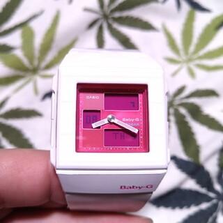 ベビージー(Baby-G)のCASIO Baby-G bga-200 ジーショック ホワイト×ピンク(腕時計)