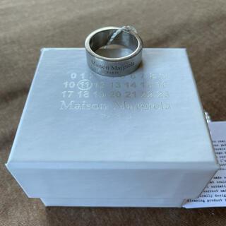 マルタンマルジェラ(Maison Martin Margiela)の21SS新品L メゾン マルジェラ ブランドロゴ リング シルバー 指輪 メンズ(リング(指輪))