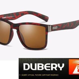 新品●DUBERY 偏光サングラス 赤黒ジュラフモデル スポーツ ドライブ