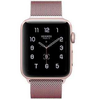 【B36】Apple Watchミラネーゼループ42/44mm(ローズゴールド)(その他)